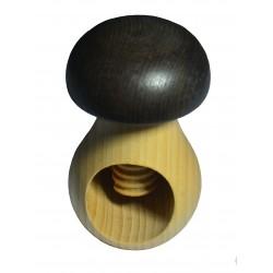 Casse Noix bois forme champignon