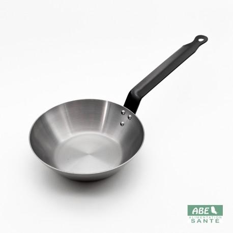 Poêle mi-wok en fer 24cm