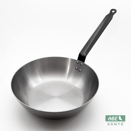 Poêle wok en fer 28cm